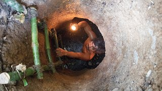 Dig to build wells house and swimming pool underground 3 meter