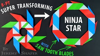 Super Transforming Ninja Star w/ Saw Tooth Blades!