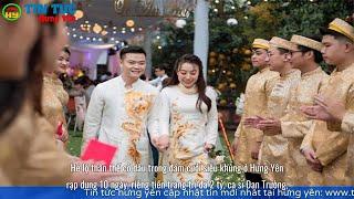 Hé lộ thân thế cô dâu trong đám cưới siêu khủng ở Hưng Yên. Tiền trang trí đã 2 tỷ