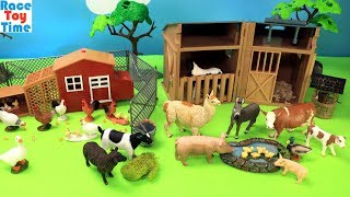 connectYoutube - Farm Animals and Chicken Coop Playset - Animal Toys Video For Kids