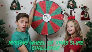 MYSTERY WHEEL OF XMAS SLIME CHALLENGE !!
