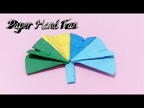 Miniature Paper Hand Fan : How to Make Colorful Paper Fan / Easy Handmade Crafts
