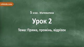 #2 Пряма. Промінь. Відрізок. Відеоурок з математики 5 клас