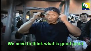 Bolo Yeung sharing bodybuilding tips  (Bruce Lee Friend)