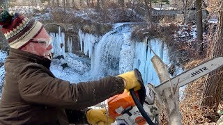 Grandpa With A Sthil Chainsaw - Minnehaha Falls