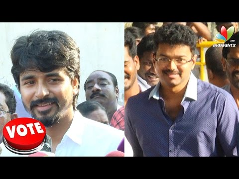 Vijay and Sivakarthikeyan speech after casting their votes in Nadigar Sangam Elections