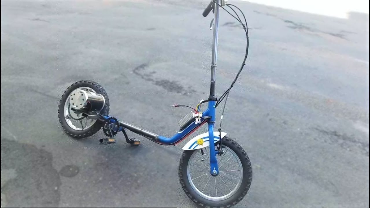 Homemade Electric Scooter From Bike  1000W  40km/h DIY Project