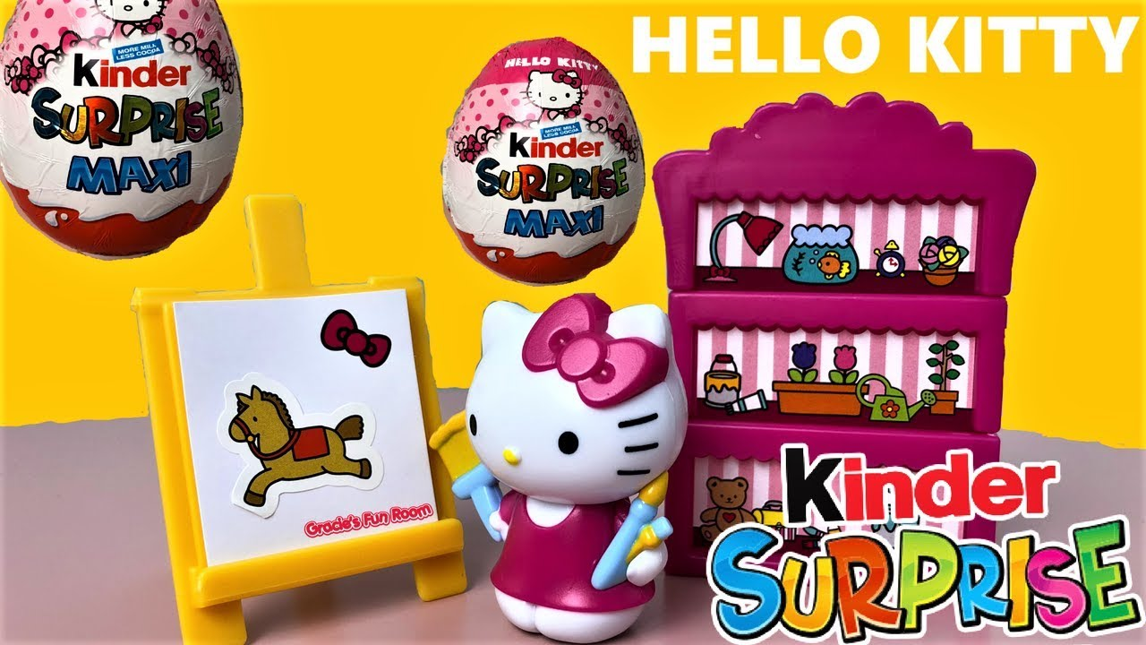 maxi kinder surprise egg hello kitty youtube. Black Bedroom Furniture Sets. Home Design Ideas