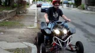 Ricky playin on my R1 Predator 1000cc Quad