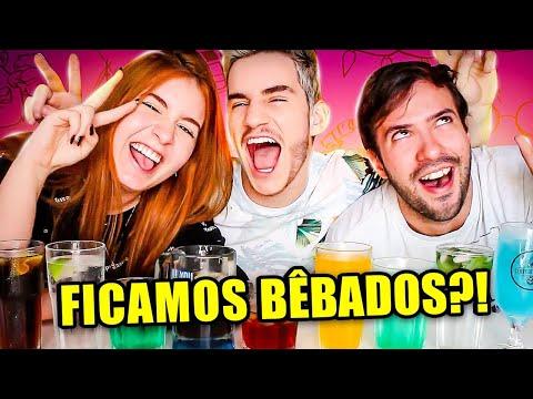 PRIMEIRA VEZ PROVANDO DRINKS ALCOÓLICOS!!! 🍹 Klébio Damas ft. Sofia Santino e Bruno