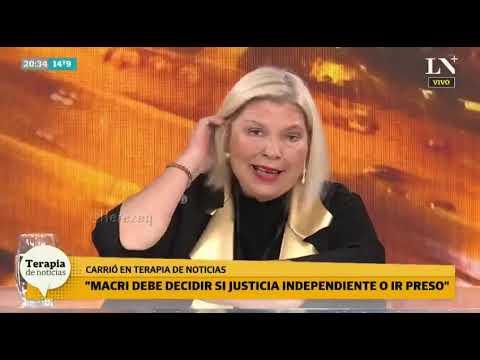 """""""Sobre el Papel de Mauricio Macri"""" dijo Carrió"""