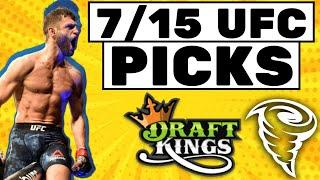 DRAFTKINGS MMA/UFC DFS 7/15 LINEUP PICKS TODAY WEDNESDAY PICKS | PICKS TONIGHT
