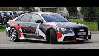 [4k] Review MTM S8 Talladega R Audi S8 on Autobahn it is ALL OUT 320 km/h (200 mph) GPS