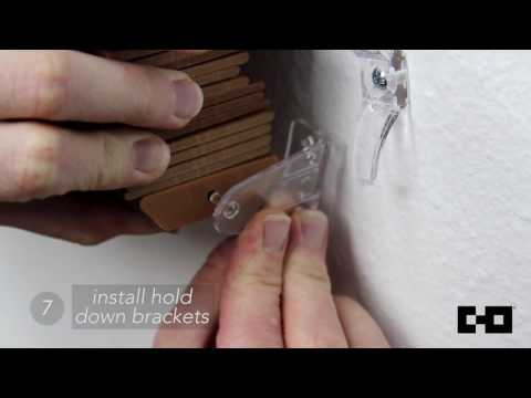 Chicology Home   Faux Wood Blinds Tutorial - Install Hold Down Bracket (Step 7/7)