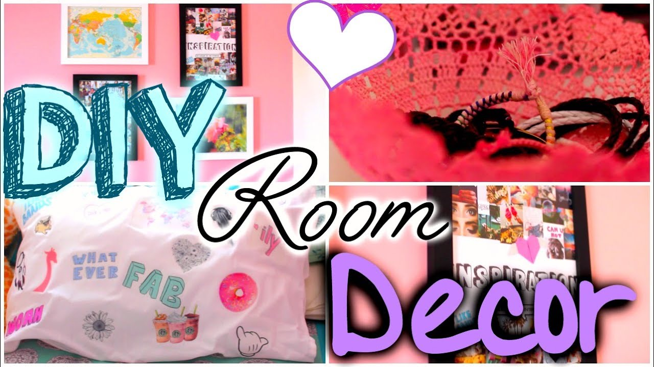 Diy unique room decor easy cheap cute youtube for Cute room decorations to make