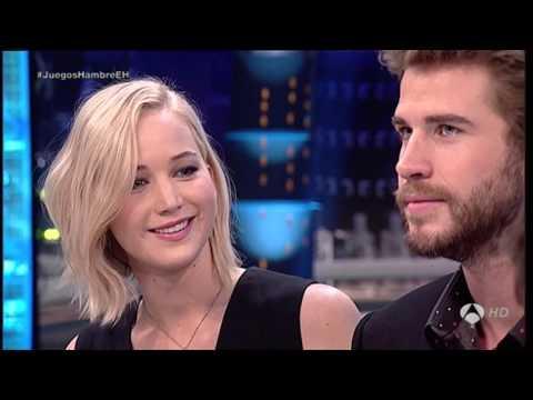 """Primera Parte Liam Hemsworth, Josh Hutcherson y Jennifer Lawrence  en """"El  Hormiguero"""""""