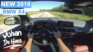 NEW BMW X4 2018 xDrive20d Model M Sport X POV test drive