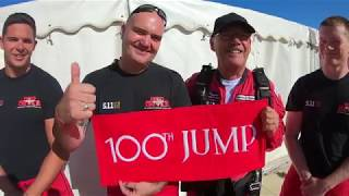 Chelsea Pensioner Mike Smith makes his 100th parachute jump