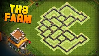 Clash of Clans | Town Hall 8 (TH8) Farming Base | Pacman | Free 30% - 12h Shield Base + Proof [2016]