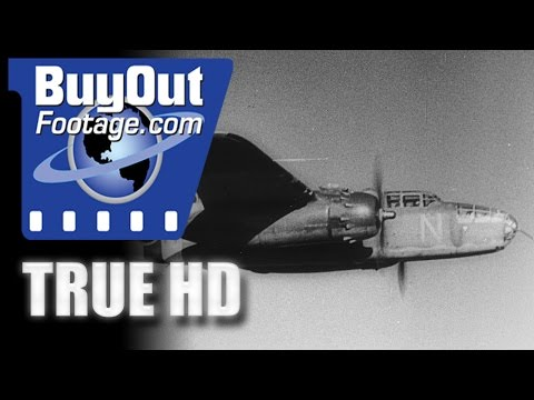 HD Historic Stock Footage WWII - Allies Bomb Western Front