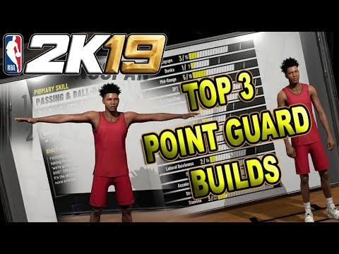 THE TOP 3 POINT GUARD BUILDS in NBA 2K19