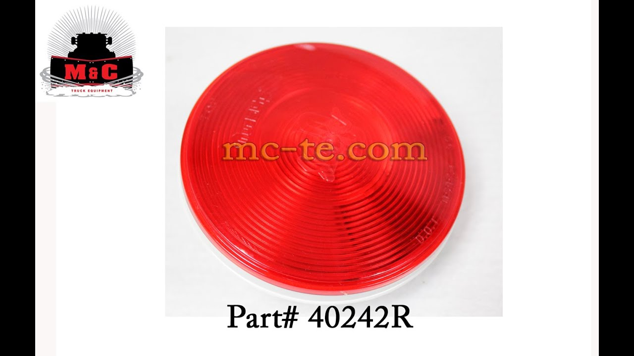medium resolution of truck lite red 4 super 40 stop turn tail lamp 40242r