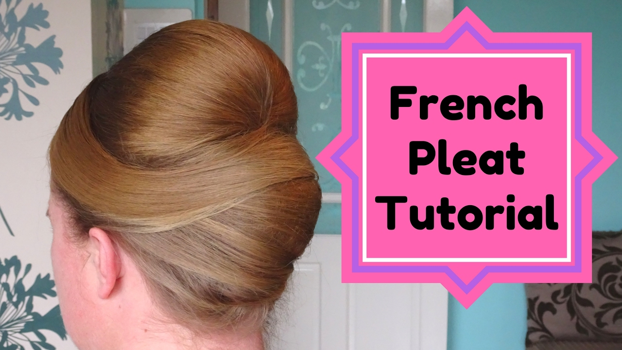 How to French Pleat hair tutorial updo - french roll twist prom wedding  bridesmaids bride