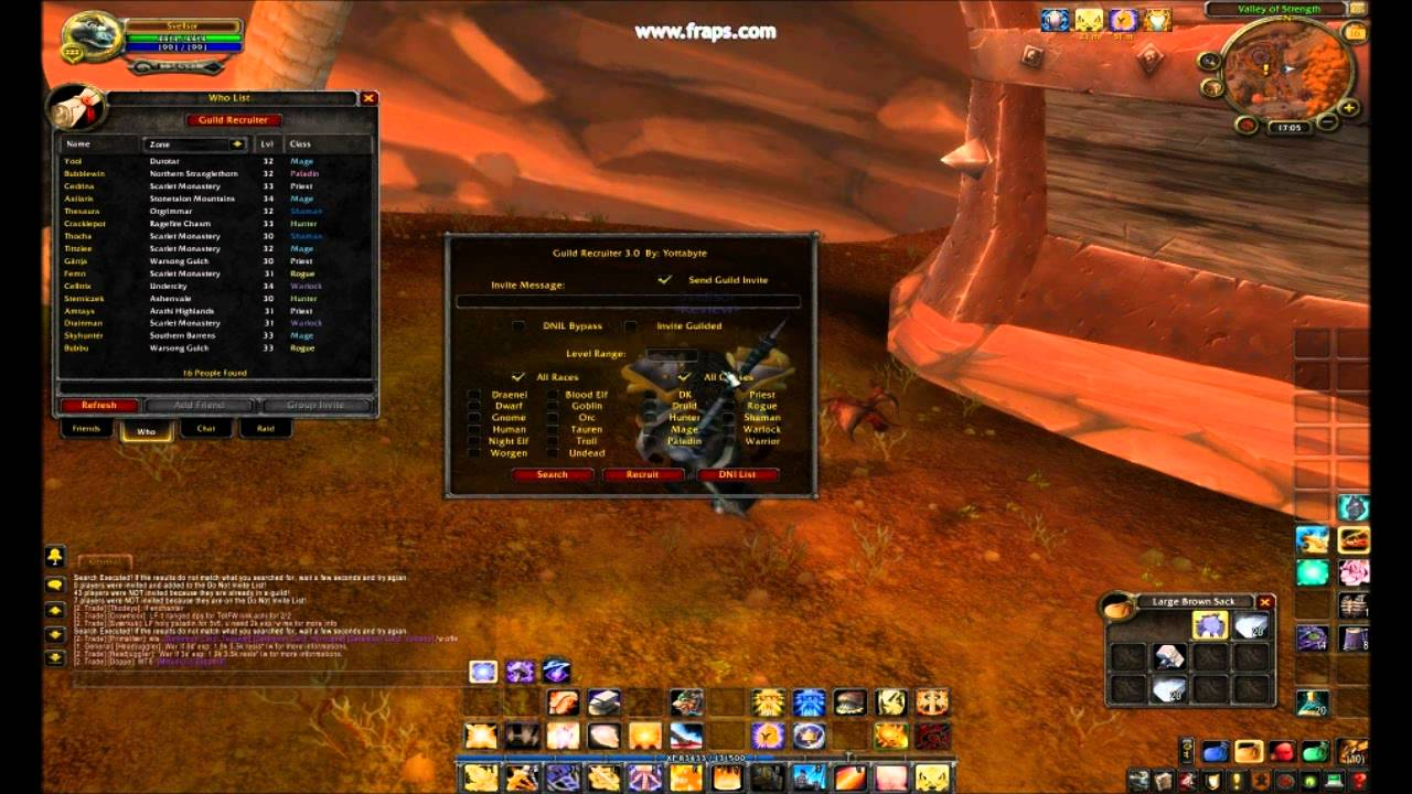 How To Use Guild Recruiter Addon Wow Youtube