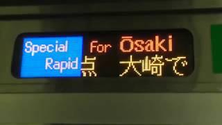 JR湘南新宿ライン特別快速大崎行き E233系3000番台側面表示