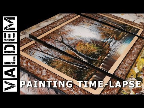 Painting Time-Lapse  | Stream In The Forest