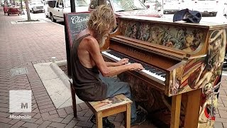 homeless man plays street piano beautifully in florida come sail away mashable news