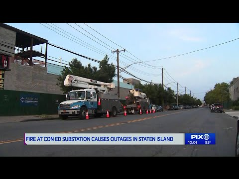 Power outages on Staten Island after sub station fire: ConEd
