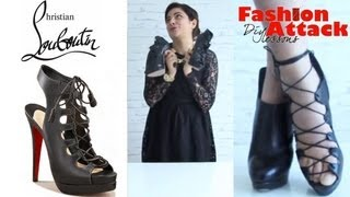 How to make DIY Christian Louboutin lace up sandals: Fashion Attack Thumbnail