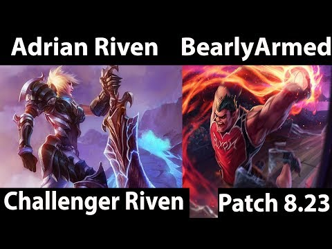 [ Adrian Riven ] Riven vs Darius [ BearlyArmed ] Top  - testing preseason changes patch hit today
