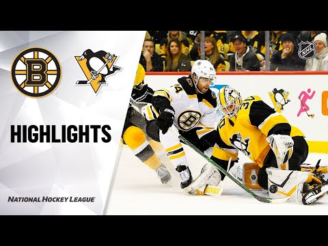 NHL Highlights | Bruins @ Penguins 01/19/20