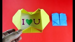 How to Make a Origami Love Box Very Easily | Diy-Paper Crafts