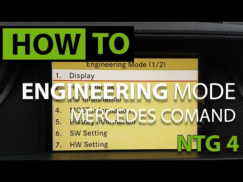 HOW TO: Engineering Menu - Mercedes COMAND NTG 4.0