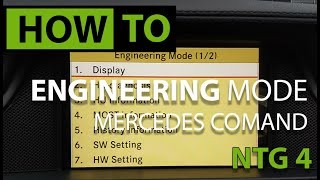 HOW TO Engineering Menu - Mercedes COMAND NTG 4.0