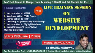 [Day 2] Live Training on Website Development|Umang Kejriwal