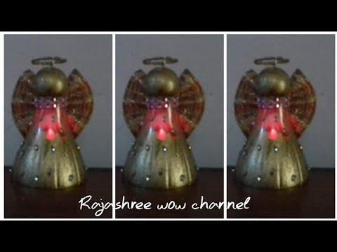 Christmas decoration 2019/Waste material recycle craft/Best out of waste plastic bottle/DIY Angel