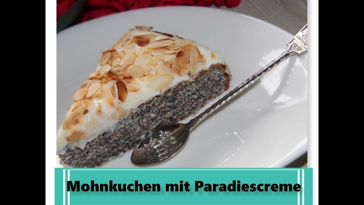 Mohnkuchen Ohne Boden Mit Paradiescreme Leicht Lecker Youtube