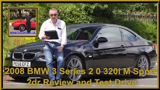 2008 BMW 3 Series 2 0 320i M Sport 2dr | Review and Test Drive