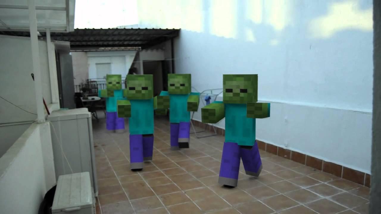 Zombie Minecraft en la vida real - YouTube