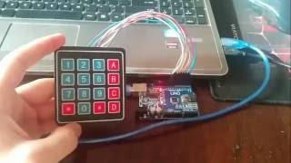 4 * 4 Matrix Keyboard & Arduino Uno $ Code