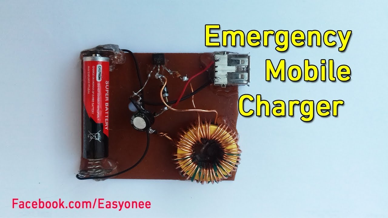 How To Make Emergency Mobile Charger From 1 5v To 5v