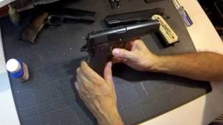 airsoft colt 1911 a1 we custom grip preview of birchwood casey bluing of 1911 guarder kit