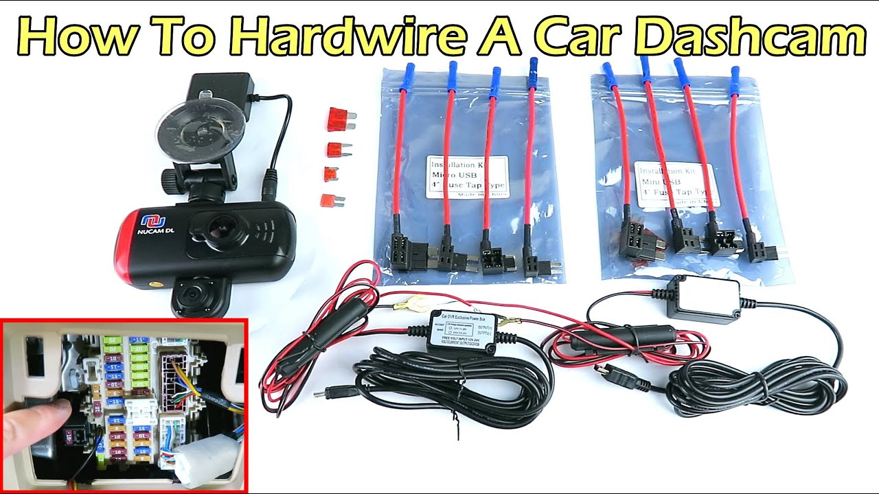 How To Hardwire A Car Dash Camera with Parking Mode Garmin C Wiring Diagram on