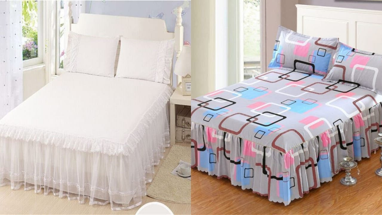 Top class designer frilly bedsheets designs/beautiful bed sheets designs