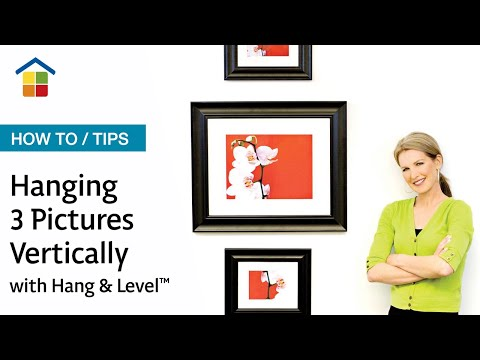 How To Hang 3 Pictures Vertically Using Hang Level