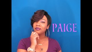 These Bangs tho....Outre Synthetic Quick Weave Eco Wig – *PAIGE* Blackhairspray.com